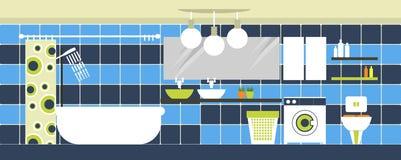 Interior bathroom Stock Images