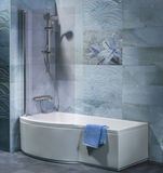 Interior bathroom with tub, shower Stock Image