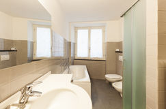 Interior, bathroom view Royalty Free Stock Photography
