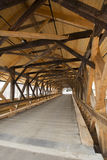 Interior beams of historic wooden covered bridge, Stark, New Ham Stock Photography
