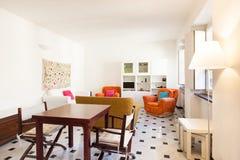 Interior, beautiful apartment stock photography