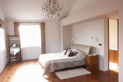 Interior Of Beautiful Contemporary Bedroom Stock Photo