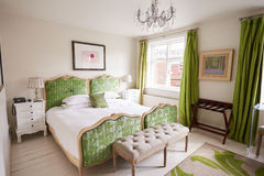 Interior Of Beautiful Contemporary Bedroom Stock Images