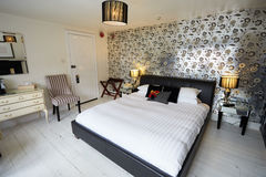 Interior Of Beautiful Contemporary Bedroom stock photos