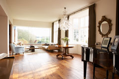 Interior Of Beautiful Contemporary Lounge stock images