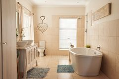 Interior of the stylish bathroom in a contemporary home Royalty Free Stock Photography