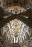 Interior of a beautiful gothic Wells Cathedral Royalty Free Stock Photos