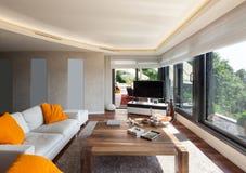 Interior, beautiful living room Royalty Free Stock Photos