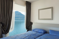 Interior, beautiful modern apartmen, bedroom Stock Images