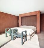 Interior, beautiful modern bedroom Stock Photos