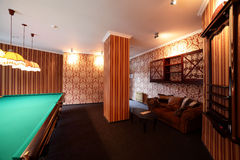 Interior of beautiful and modern billiard Royalty Free Stock Photo