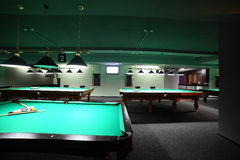 Interior of beautiful and modern billiard Royalty Free Stock Photos