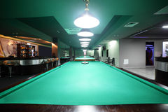 Interior of beautiful and modern billiard Stock Photography
