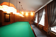 Interior of beautiful and modern billiard Royalty Free Stock Photography