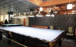 Interior of beautiful and modern billiard Stock Photo
