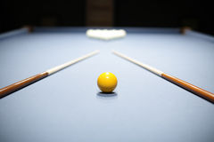 Interior of beautiful and modern billiard Royalty Free Stock Image