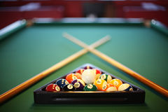 Interior of beautiful and modern billiard Royalty Free Stock Images
