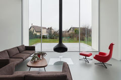 Interior of a beautiful modern house Stock Photo