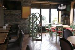 Interior of beautiful modern restaurant royalty free stock photos