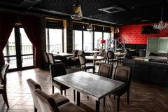 Interior of beautiful modern restaurant royalty free stock photography