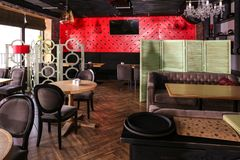 Interior of beautiful modern restaurant royalty free stock image