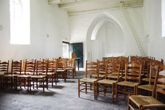Interior of a beautiful old medieval church Stock Photo