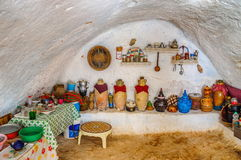 Interior of bedoin berber house in Sahara desert, Tunisia, North Africa Stock Images