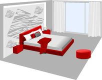 Interior bedroom Stock Photo