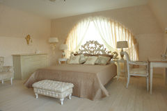 Interior of a bedroom. In classic style Stock Image