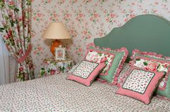 Interior of a bedroom stock photography