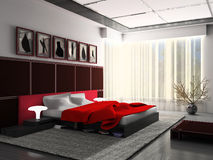 Interior of a bedroom Royalty Free Stock Photo