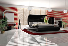 Interior of a bedroom Royalty Free Stock Image