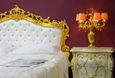 Interior of a bedroom 3. Beautiful stylish interior of a bedroom Royalty Free Stock Photography