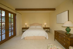 Interior of Bedroom stock photography