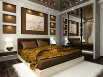 Interior of the bedroom Stock Photography