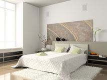 Interior of the bedroom Royalty Free Stock Image