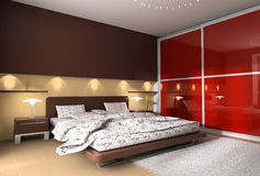 Interior of a bedroom stock illustration