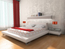 Interior of a bedroom Royalty Free Stock Photography