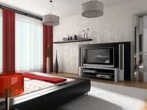 Interior of a bedroom royalty free stock photos