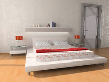 Interior of a bedroom Stock Image