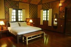 Interior bedroom chalet five star resort Borneo, Malaysia, Asia Stock Photography
