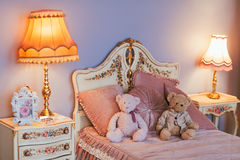 Interior bedroom. Interior of childs bedroom closeup Royalty Free Stock Photography