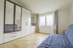 Interior of a bedroom. In a guest house Stock Photos