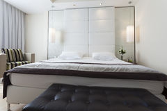Interior of a bedroom in luxury apartment Stock Photo