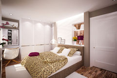Interior Bedroom in modern style Stock Photo