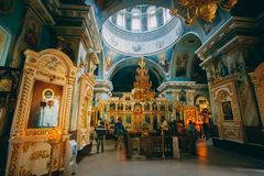 Interior Of Belarussian Orthodox Cathedral of St Royalty Free Stock Images