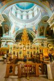 Interior Of Belarussian Orthodox Church Cathedral Stock Photos