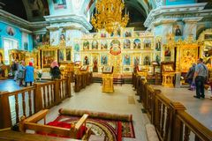 Interior Of Belarussian Orthodox Church Cathedral Stock Images