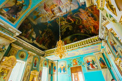 Interior Of Belarussian Orthodox Church Cathedral Royalty Free Stock Photos