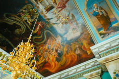 Interior Of Belarussian Orthodox Church Cathedral Royalty Free Stock Images